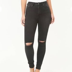 Black Denim Jeans from Forever 21